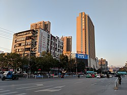 Street view near the center of Yingcheng