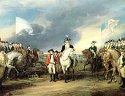 Surrender of Cornwallis at Yorktown by (John Trumbull, 1797).