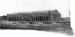 1923 Michigan Wolverines football team - Yost Field House, dedicated on November 10, 1923