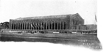 1923 Michigan Wolverines football team - Yost Field House, dedicated on November 10, 1923