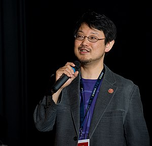 Yukihiro Matsumoto - Matsumoto giving the keynote speech at EuRuKo 2011