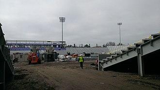 Yulman Stadium - Image: Yulman Stadium construction February 2014 3
