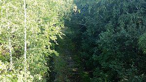 """Nazi gold train - Traces of track near """"Zone 65"""""""