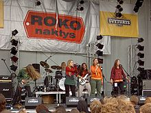 "Performing at ""Rock nights 2005"" festival"