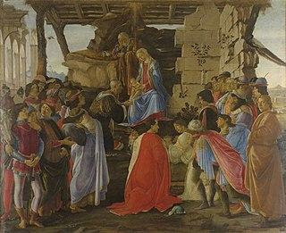 Die Anbetung der Heiligen drei Könige (Sandro Botticelli)