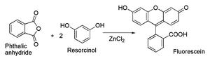 Zinc chloride - Image: Zn Cl 2 fluorescein
