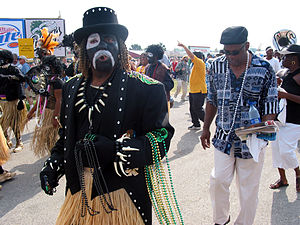 Zulu Social Aid & Pleasure Club - Zulu paraders at the New Orleans Jazz & Heritage Festival, 2003