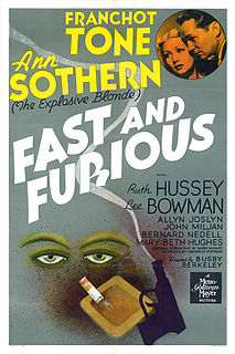 <i>Fast and Furious</i> (1939 film) 1939 film by Busby Berkeley