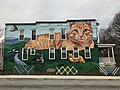 """Mr. Ed the Cat"" mural (2018; Gaia, muralist), 301 Wyman Park Drive, Baltimore, MD 21211 (40617345123).jpg"