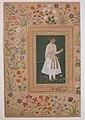 """""""Portrait of Raja Bikramajit (Sundar Das)"""", Folio from the Shah Jahan Album MET sf55-121-10-1a.jpg"""
