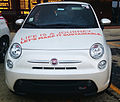 """ 15 - EXPO MILANO 2015 -500e white ( Electrically-powered service citycar ) front view.jpg"