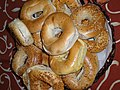 (A bagel also spelled beigel, is a bread product originating in the Jewish communities of Poland).jpg