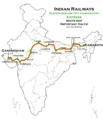 (Gandhidham - Kamakhya) Express route map.png