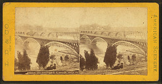 Girard Avenue Bridge - Image: (Girard) Avenue and Junction R.R. bridge, from Robert N. Dennis collection of stereoscopic views