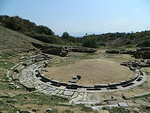 Stratos, Greece - Remains of the ancient theatre