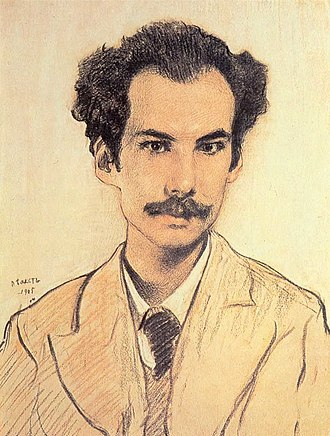 Andrei Bely - Portrait of Bely by Léon Bakst, 1905