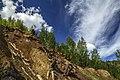 Медно-Рудянский карьер.Вскрывшиеся крепи старых шахт. - panoramio.jpg