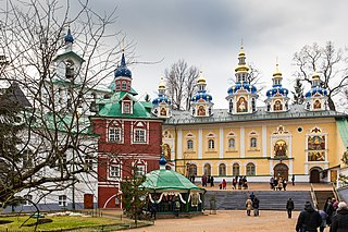 a Russian Orthodox male monastery in Pechory, Pskov
