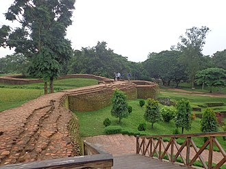 History of Bengal - Remnants of the city wall in Mahasthangarh, one of the oldest urban settlements in Bengal