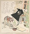 元日仕度-Preparations for the New Year, from Spring Rain Surimono Album (Harusame surimono-jō, vol. 1) MET DP135769.jpg