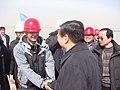 山东省省长姜大明视察防护堤建设 - panoramio.jpg