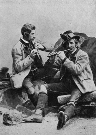 Folk music - The Steinegger brothers, traditional fifers of Grundlsee, Styria, 1880