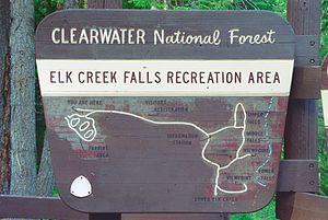 Clearwater County, Idaho - Elk Creek Falls