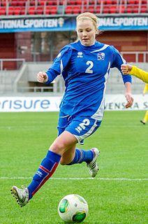 Glódís Perla Viggósdóttir association football player