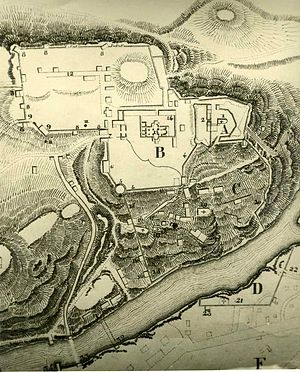 Mukhrani - A 19th-century plan of the princely estate of Mukhrani