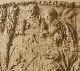 Scorpio (weapon) - Image: 048 Conrad Cichorius, Die Reliefs der Traianssäule, Tafel XLVIII (Ausschnitt 01)
