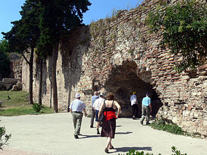 Durrës - Entrance of the ancient walls of Durrës.