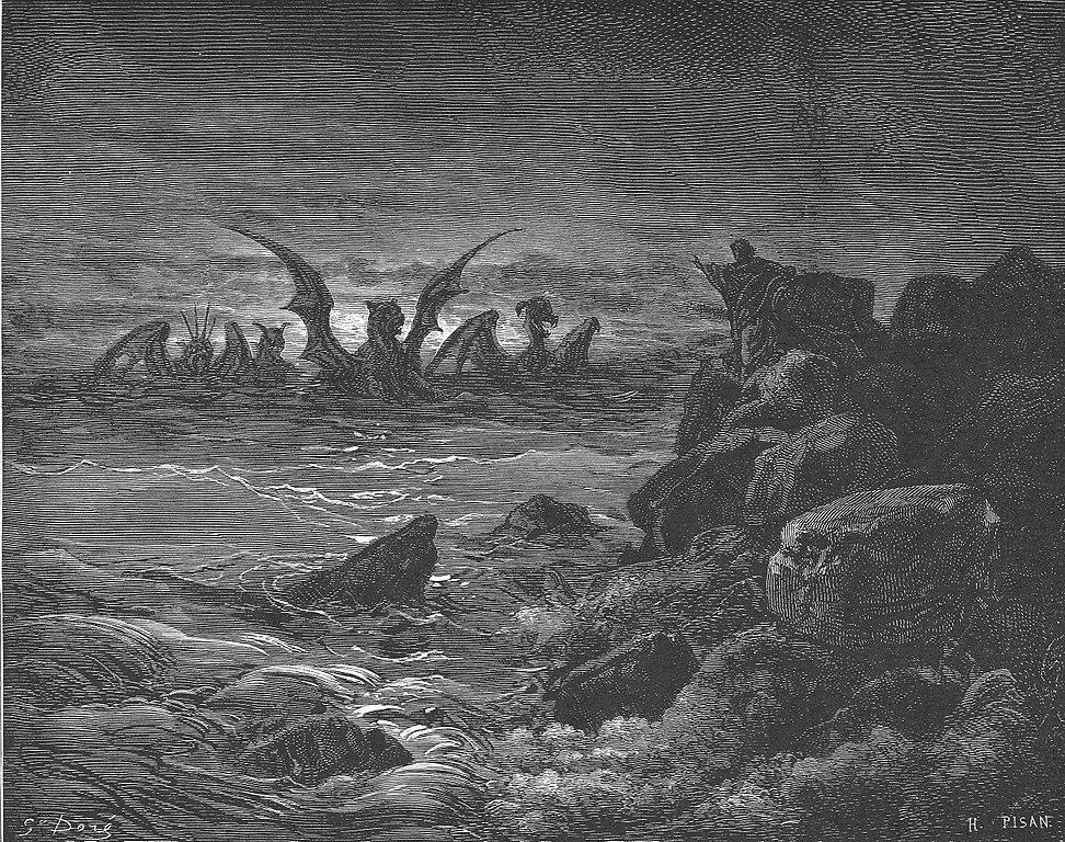네 짐승의 이상 (귀스타브 도레, Gustave Doré, 1866년)