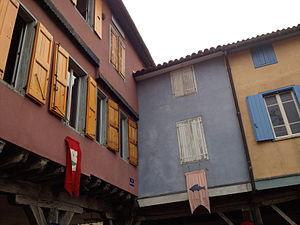Mirepoix, Ariège - 13th-century façades in Mirepoix.