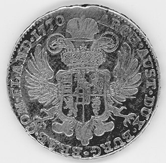 Austrian Netherlands kronenthaler - Eagle and arms
