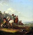 1786 Pforr Hasenhetze mit einem Falkner anagoria.JPG