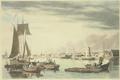 1833 BostonFromCityPoint byWilliamJamesBennett MFABoston.png