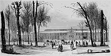 1844 Paris Industry Exposition building on the Champes-Élysées.jpg