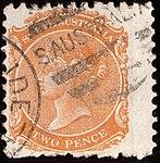 1876 2d wmk SA right South Australia Yv37 Mi49b.jpg