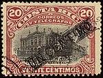 1906 1c on 20c Costa Rica Mi52II.jpg