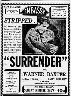 <i>Surrender</i> (1931 film) 1931 film