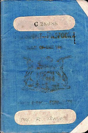 South African passport - Image: 1948 South African passport