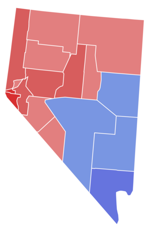 United States Senate election in Nevada, 1964 - Image: 1964 NV