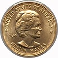 1984 Helen Hayes One-Ounce Gold Medal (obv).jpg