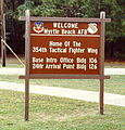 1985 - Myrtle Beach AFB Welcome Sign.jpg