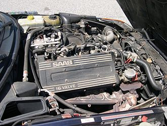 Saab H engine - Saab B202 turbo 16-valve engine in a 1993 Saab 900T