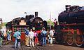 1994, Parade of steam locomotives in Wolsztyn (3) Ok1 359 obrotnica.jpg