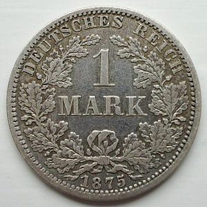 Mark (currency) - Image: 1Mark 1875