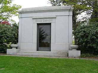 David Sarnoff - Sarnoff's mausoleum at Kensico Cemetery.