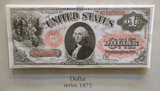 1 Dollar, United States, series 1875 - National Museum of American History - DSC00313.jpg