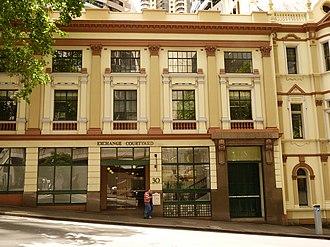 Grosvenor Street, Sydney - Image: 1 Exchange Courtyard